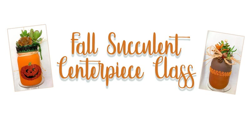 Fall Succulent Jar